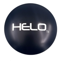 "Helo 4.5"" Satin Black Wheel Center Hub Cap Logo/Sticker fits 8 Lug HE878/HE879"