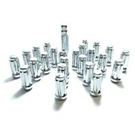 "14mmx1.50 Chrome Truck Spline Kit Tool 1.9"" Lug Nuts Offroad Style Set 24 Pcs."