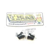 "Set of 2 Earls Plumbing Black Aluminum 1/4"" Tube Sleeve 4 AN"