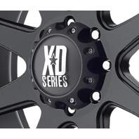 KMC XD Series 8 Lug Wheel Center Hub Cap Matte Black 8x6.5 8x165.1 8x170 8x180