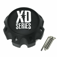 KMC XD Series 8 Lug Wheel Center Hub Cap Matte Black 8x6.5 8x165.1 8x170 8x180