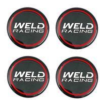 Set of 4 Weld Racing 601-3015 Gloss Black Wheel Center Cap Racing Emblem / Logo