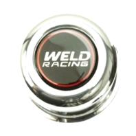 "Weld Racing Polished 2.93"" OD x 3.25"" Tall Push Thru 4 Lug Center Cap"