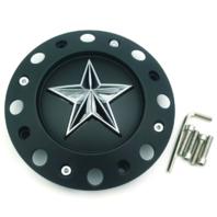 "KMC XD 775 Rockstar Matte Black Wheel Center Hub Cap 8 3/8"" OD 1001775B Short"