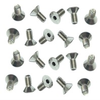 American Racing Torq-Thrust II Polished Center Cap Screws Stainless Steel Set 20