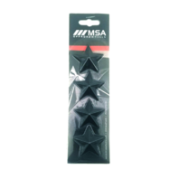 Set of 4 Black MSA Off-Road Wheels Center Cap Stars fits All MSA-CAP Styles