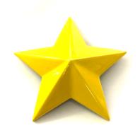 Set of 4 Yellow MSA Off-Road Wheels Center Cap Stars fits All MSA-CAP Styles