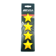 Set of 4 Yellow MSA Off-Road Wheels Center Cap Stars fits All MSA-CAP Styles