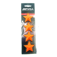 Set of 4 Orange MSA OffRoad Wheels Center Cap Stars fits All MSA-CAP Styles