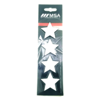 Set of 4 White MSA Off-Road Wheels Center Cap Stars fits All MSA-CAP Styles