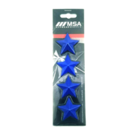 Set of 4 Blue MSA Off-Road Wheels Center Cap Stars fits All MSA-CAP Styles