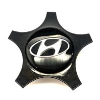 """2012-16 Hyundai Veloster 18"""" Wheel Center Cap OEM Snap In Gloss Blk 52960-2V000"""