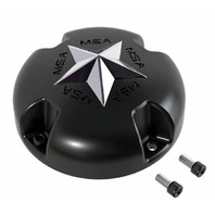 MSA Off-Road Wheels Flat Black Center Cap fits M38-M12 MSA-CAP Style Wheels