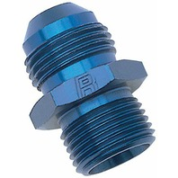 Russell 670520 Blue Anodized Aluminum -6AN Flare to 14mm Metric Adapter