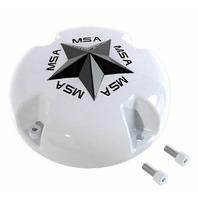 MSA Off-Road Wheels White Center Cap fits M38 M12 MSA-CAP Style Wheels