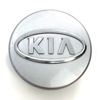 "Kia Wheel Center Hub Cap 2.25"" OEM Painted Silver Chrome Logo Optima Sedona Soul"