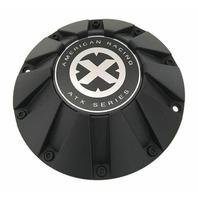 "American Racing ATX Matte Black Center Hub Cap 8.5"" for ATX805 Force Teflon Rims"