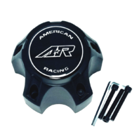 American Racing Black Machined Wheel Center Cap for890 fits 5x4.5 5/5 CARA1215SB