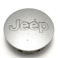 "Jeep Center Cap Cherokee Commander Compass Liberty Wrangler 2 1/8"" OEM Silver"