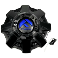 "Fuel Offroad Gloss Black with Blue Logo Center Cap 18"" D646 Hardline 1001-79GBK"