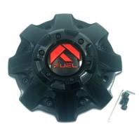 "Fuel Offroad Gloss Black & Red Short Center Cap 18"" D621 Hardline Wheel 1001-79GBQ"
