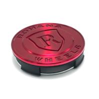 Rohana Gloss Red Wheel Center Hub Cap Metal fits All Rohana Wheels