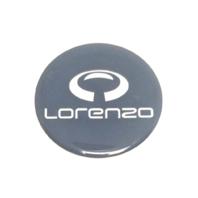 LORENZO Wheel Rim Center Cap Emblem Dark Grey Blue Center Sticker