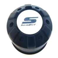 Sendel Wheels 62471780F-02 62471780F-7 Black Push Thru Wheel Center Cap