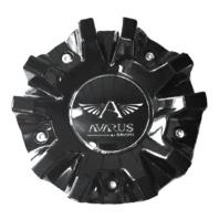 "Savini Avarus Wheel Center Hub Cap Gloss Black 6"" Diameter M-343-1 M-343-2"