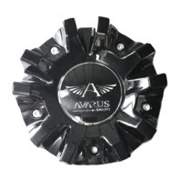 "Savini Avarus Wheel Center Hub Cap Black 6"" Diameter M-343-1 M-343-2"
