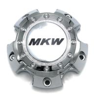 MKW Chrome Wheel Center Hub Cap 5 Lug Bolt On MKC-E-044 S1109-07