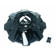 Fuel Gloss Black 5/6-Lug Center Cap Fits Crush D561 Maverick D610 1001-63GBR