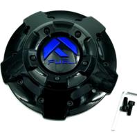 """Fuel Gloss Black Blue Logo 20"""" 22"""" Center Cap D644 Contra 5/6/8 Lug 1003-81GBK"""