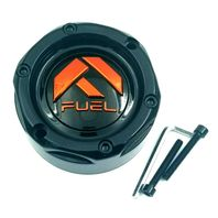 Fuel Off Road Wheel Center Hub Cap Gloss Black & Orange for 4 Lug UTV Wheel