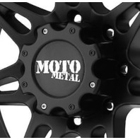 "Moto Metal Matte Black Wheel Center Hub Cap 6.75"" 8 Lug for MO961 MO957 Rims"