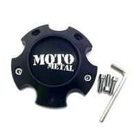 Moto Metal Satin Black Wheel Center Hub Cap 6 Lug 6x4.5/120 1079L121ASGBM01