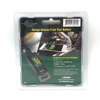 Battery Tender Quick Disconnect w/ USB Display 12V Input Cell Phone GPS Camera