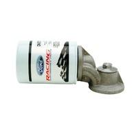 Ford Oil Filter Adapter 90 Degree Aluminum Natural