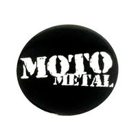 "1 Single Moto Metal 2.4"" (60mm) Gloss Black Wheel Center Hub Cap Logo Sticker"