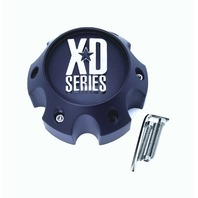 KMC XD Series Spy Addict Revolver Flat Black 6 Lug GMC Wheel Center Cap