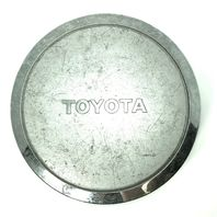 "Toyota Wheel Center Hub Cap 7-3/4"" OD Silver w/Chrome Logo & Lip OEM"