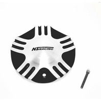 NS Racing Wheel Center Cap Machined SIlver & Black C-055-1 S1050-NS01