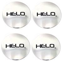 """Set of 4 Helo 2 1/2"""" (64mm) OD Chrome Wheel Center Hub Cap Logo/Sticker HE878"""