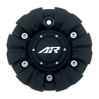 "American Racing AR339 Marin Wheel Center Hub Cap 6.75"" OD Matte Black"
