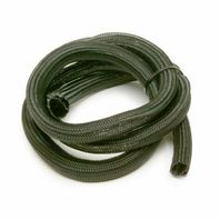 Power Braid Hose and Wire Sleeve 1 in Diameter 12 ft Braided Plastic Black