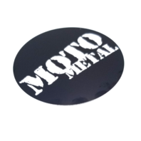 Moto Metal Black Center Cap Logo/Sticker 80mm for 5x5.5 6X5.5 Bolt Patterns