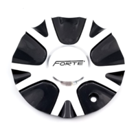 Forte F67 Night Moves Machined Black Wheel Center Cap S1050-F67 C-380-1