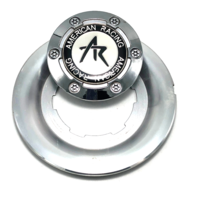 "American Racing Estrella Wheel Center Cap Machined Chrome 5-7/8"" OD 2 Piece"