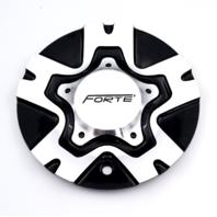 Forte F50 Twisted Machined Black Wheel Center Cap S1050-F50 C-326-1AL