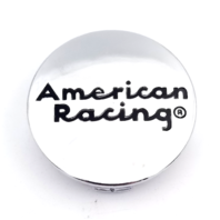 American Racing Chrome Snap In Wheel Center Cap Part# 490K57